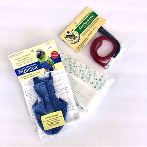 Reusable Bird Diaper Flight Suit w/Leash & Liners